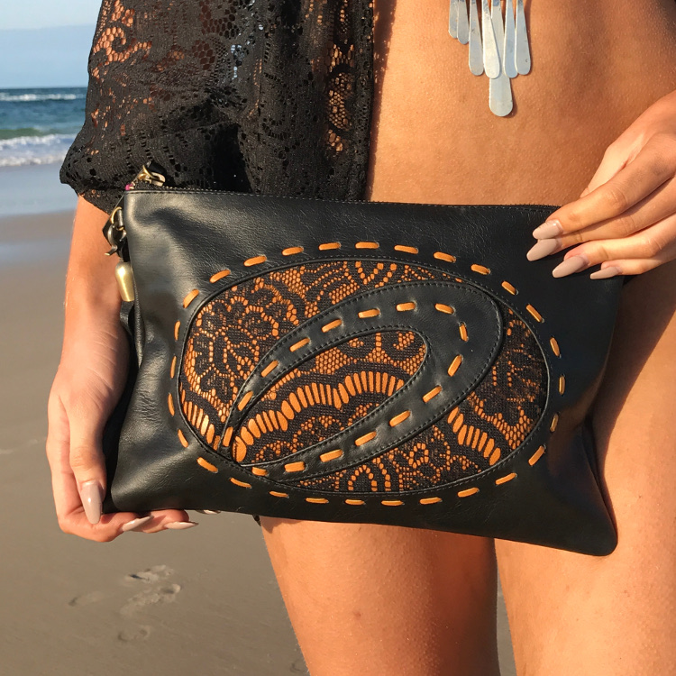 Large Genuine Leather Clutch
